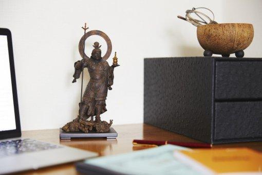 Buddha Statue for sale, palm-sized Bishamonten, placement image
