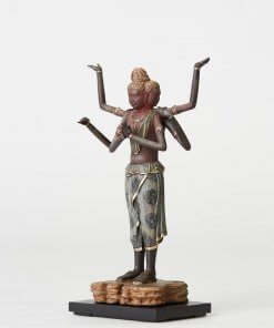 Buddha Statue for sale, palm-sized Asura, right front view