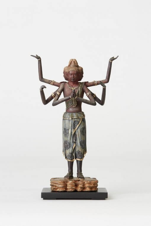 Buddha Statue for sale, palm-sized Asura, front view