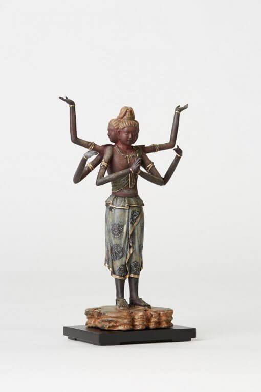 Buddha Statue for sale, palm-sized Asura, left front view