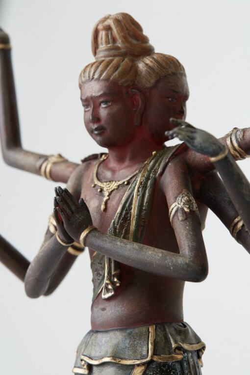 Buddha Statue for sale, palm-sized Asura, zooming up to body