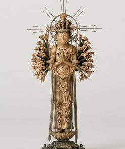 Buddha Statue for sale, palm-sized 1000-armed Kannon, entire view