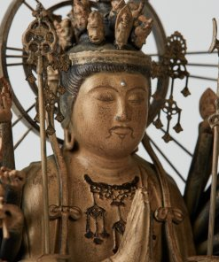 Buddha Statue for sale, palm-sized 1000-armed Kannon, zooming up to face