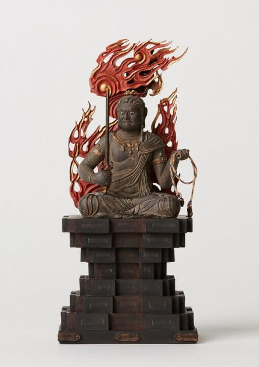 Buddha Statue for sale, Acala / Fudo Myo-oh palm-sized, front view