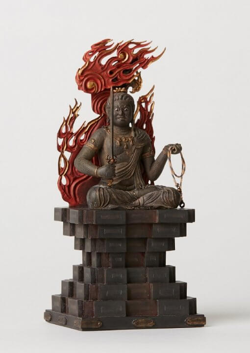 Buddha Statue for sale, Acala / Fudo Myo-oh palm-sized, right front view