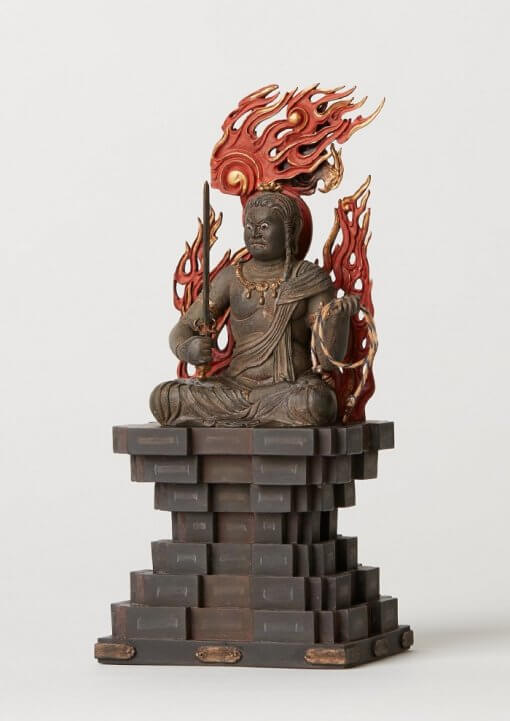 Buddha Statue for sale, Acala / Fudo Myo-oh palm-sized, left front view
