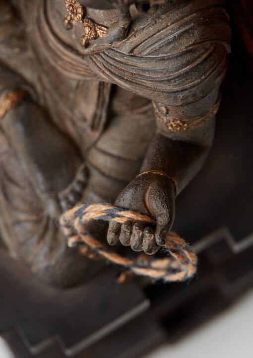 Buddha Statue for sale, Acala / Fudo Myo-oh palm-sized, details of accessory lariat