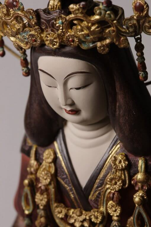 Buddha Statue for sale, Kisshoten, zooming up to face