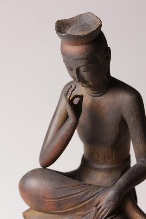Buddha Statue for sale, Miroku Buddha, zooming up to upper body
