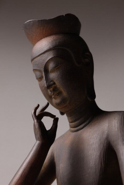 Buddha Statue for sale, Miroku Buddha, zooming up to face