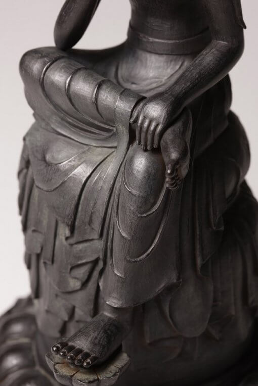 Buddha Statue for sale, Bosatsu Hanka, details of a special sitting posture for enlightenment