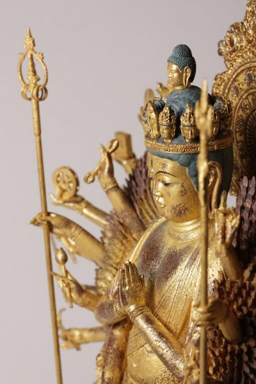 Buddha Statue for sale, ultimate 1000-armed Kannon, details of many arms