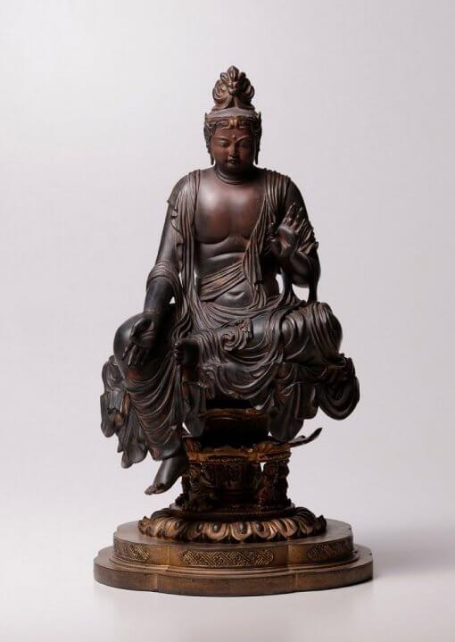 Buddha Statue for sale, Nyoirin Kannon Cintāmaṇicakra, entire view