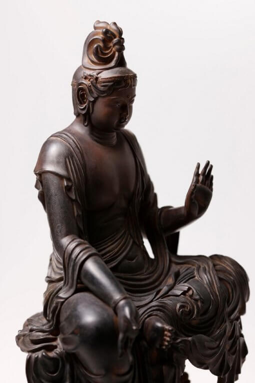 Buddha Statue for sale, Nyoirin Kannon Cintāmaṇicakra, right front view