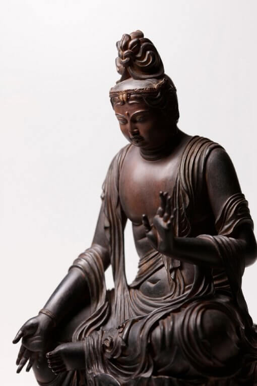 Buddha Statue for sale, Nyoirin Kannon Cintāmaṇicakra, left front view