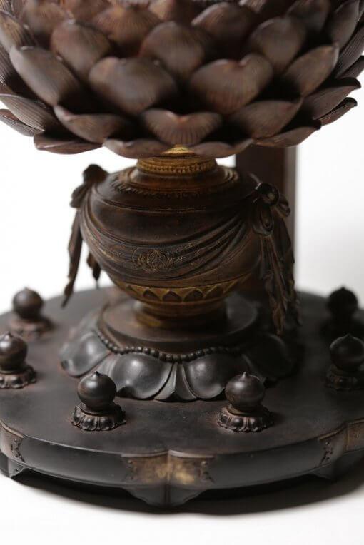 Buddha Statue for sale, Aizen Myooh Ragaraja, details of pedestal