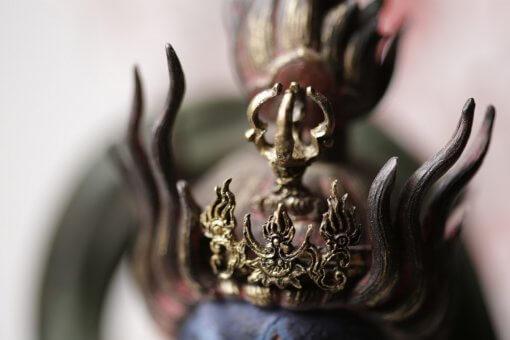 Buddha Statue for sale, Zaoh Gongen, details of crown