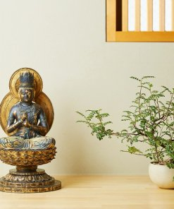 Buddha Statue for sale, Dainichi Nyorai, install example as an interior object