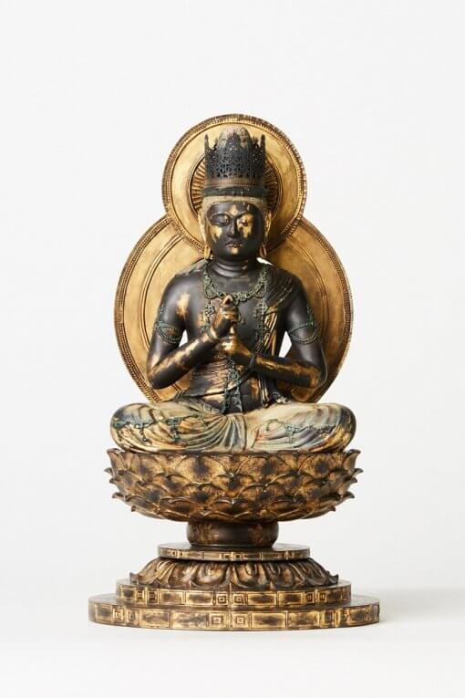 Buddha Statue for sale, Dainichi Nyorai, front view