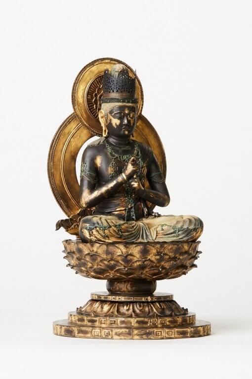 Buddha Statue for sale, Dainichi Nyorai, left front view