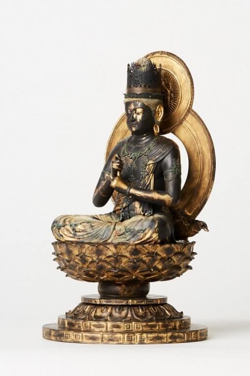 Buddha Statue for sale, Dainichi Nyorai, right front view