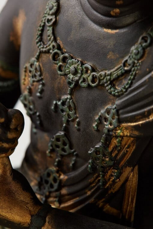 Buddha Statue for sale, Dainichi Nyorai, details of ornament necklace
