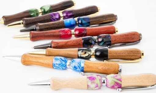 Products of Handmade Ballpoint Pen made in Japan, Acrylic & Wood Series