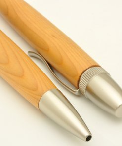 Handmade Ballpoint Pen made in Japan, Precious Wood Pen Series, Yew tree, details