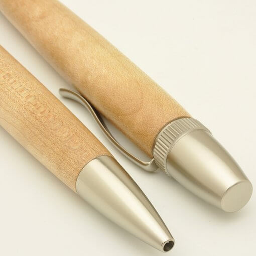 Handmade Ballpoint Pen made in Japan, Precious Wood Pen Series, Maple, details