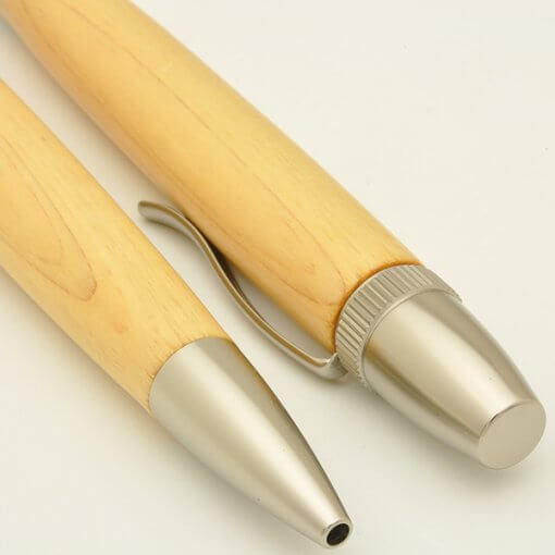 Handmade Ballpoint Pen made in Japan, Precious Wood Series Pen made of Cypress, details