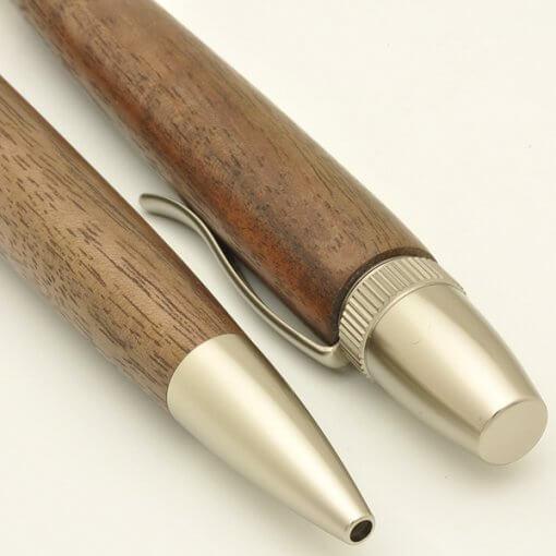 Handmade Ballpoint Pen made in Japan, Precious Wood Series Pen made of walnut, details