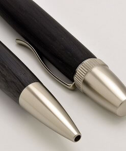 Handmade Ballpoint Pen made in Japan, Precious Wood Series Pen made of Ebony, details