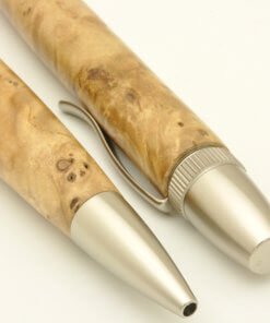 Handmade Ballpoint Pen made in Japan, Precious Wood Series Pen made of Japanese chestnut tree, details