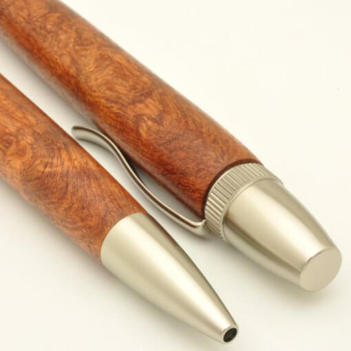 Handmade Ballpoint Pen made in Japan, Precious Wood Series Pen made of Chinese quince tree, details
