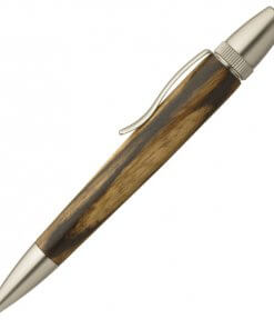 Handmade Ballpoint Pen made in Japan, Precious Wood Series Pen made of black persimmon-wood
