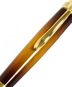 Handmade Ballpoint Pen made in Japan, Sunburst Painted Wood Pen Series, Cherry, details of pen body