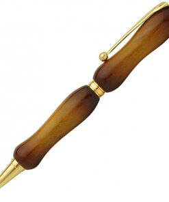 Handmade Ballpoint Pen made in Japan, Sunburst Painted Wood Pen Series, Wild Cherry