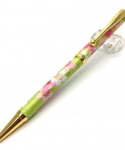 Handmade Ballpoint Pen made in Japan, Mino Washi Japanese paper series, Ryusui Yellow