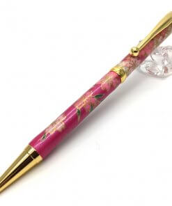 Handmade Ballpoint Pen made in Japan, Mino Washi Japanese paper series, Shidare Purple