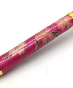 Handmade Ballpoint Pen made in Japan, Mino Washi Japanese paper series, Shidare Purple, details of pen body