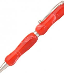 Handmade Ballpoint Pen made in Japan, Acrylic Jewel Series, Cherry Red
