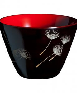 japanese lacquerware for sale, urushi sake cup series, dandelion seeds are drawn black cup