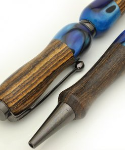 Handmade Ballpoint Pen made in Japan, Acrylic & Wood Series, Rosewood, details of body