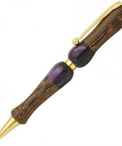 Handmade Ballpoint Pen made in Japan, Acrylic & Wood Series, Wenge