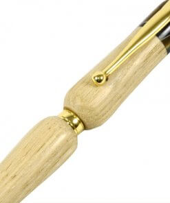 Handmade Ballpoint Pen made in Japan, Hida Tree Series, Japanese chestnut tree, zooming up to body