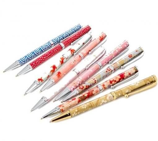 Handmade Ballpoint Pen made in Japan, Mino Washi Japanese paper series