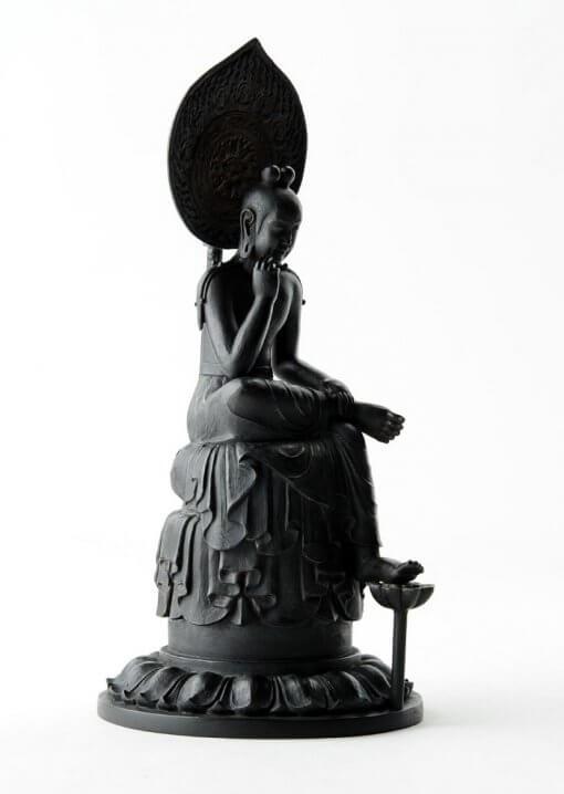 Buddha Statue for sale, Palm-sized Bosatsu Hanka, right front view