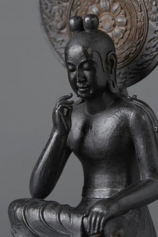 Buddha Statue for sale, Palm-sized Bosatsu Hanka, zooming up to upper body