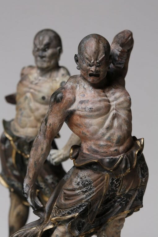 Buddha Statue for sale, palm-sized Kongo Rikishi, a pair of figurines