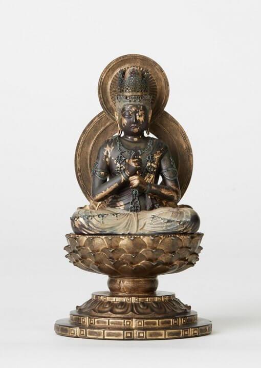Buddha Statue for sale, Dainichi Nyorai palm-sized, front view